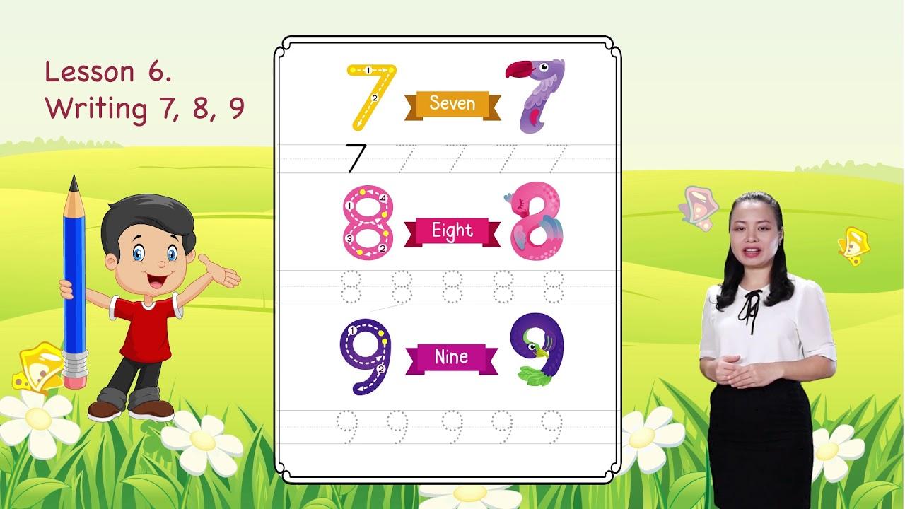Math For Kids | Lesson 6. Writing 7, 8, 9 - Writing Numbers | Kindergarten Screenshot Download