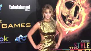 Is Jennifer Lawrences Favorite Color GOLD!? Two Dresses, One Color!