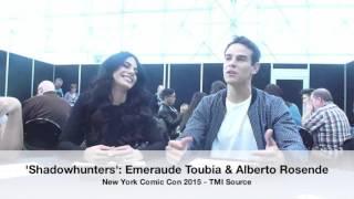 'Shadowhunters' NYCC '15: Emeraude Toubia & Alberto Rosende