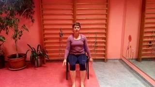 Cvičení na židli 1