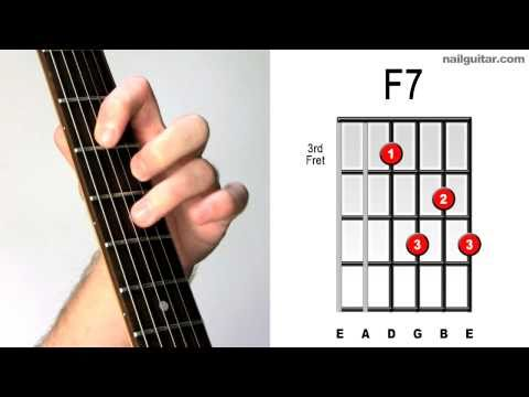 F7 ♫♬ Fast & Easy Guitar Chord Tutorial - Learn Acoustic & Electric Bar Chords Lesson