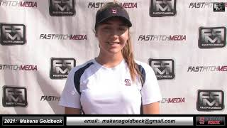 2021 Makena Goldbeck 3.5 GPA - Athletic Shortstop and Pitcher Softball Skills Video - Sonoma Stack