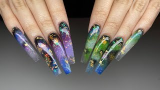 WATCH ME WORK | Opal Glitter | Long Sculpted Nails