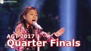 Celine Tam sings When You Believe w Judges Comments Quarter Finals America's Got Talent 2017 Live  2
