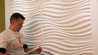 How to Cover Joints on 3D Wall Panels - DIY Home Design - Talissa Decor