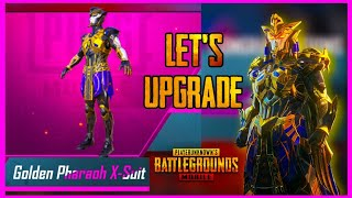 UPGRADING THE PHARAOH X-SUIT ( PHARAOH CRATE OPENING ) PUBG MOBILE