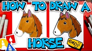 How To Draw A Horse Emoji 🐴
