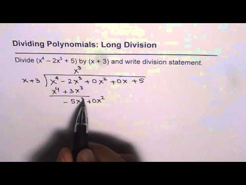 Long Division of Polynomials with Missing Terms | Mr. Gino ...