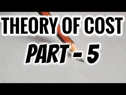 THEORY OF COST IN ECONOMICS | PART 5