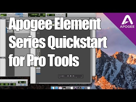 How to setup Apogee Element Audio Interfaces with Pro Tools