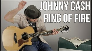"How to Play ""Ring of Fire"" by Johnny Cash (Easy Acoustic)"