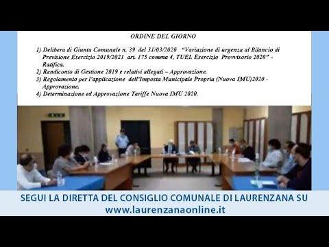 Preview video Video consiglio comunale Laurenzana diretta streaming Laurenzana 25 giugno 2020