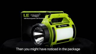 10W Rechargeable LED Spotlight,3 Modes,best choice for camping