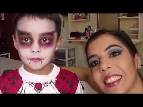Maquillaje de Drácula para halloween (Niño Vampiro )