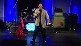 Joey Voices performs at The Steve Katsos Show Third Anniversary Spectacular