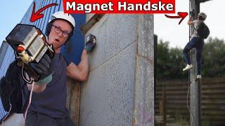 Klatrer op ad bygninger med hjemmelavet Magnet Handsker!
