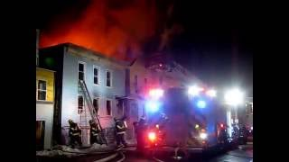 preview picture of video 'Multiple Alarm Fire, Hudson NY, Feb 28, 2015 (1/2)'