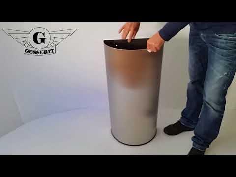 50 liter edelstahl, halbrunde Mülleimer Abfallbehälter Abfallsammler, für Sanitär, Toiletten 01-1161