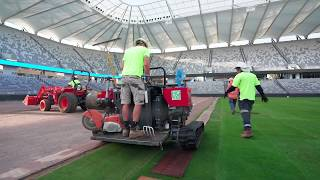 How Bankwest Stadium was constructed