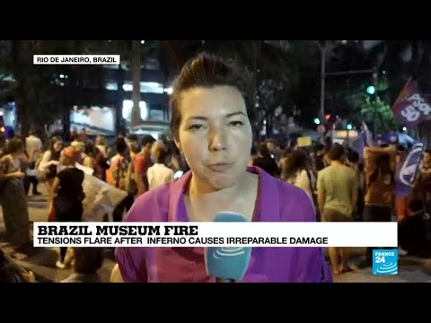 Brazilians protest budget cuts to culture, education after museum fire