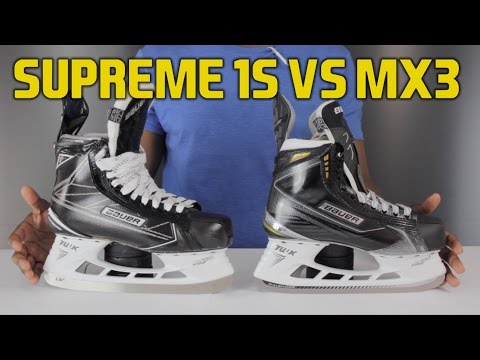 Bauer Supreme 1S Hockey Skate vs MX3 Skates Review