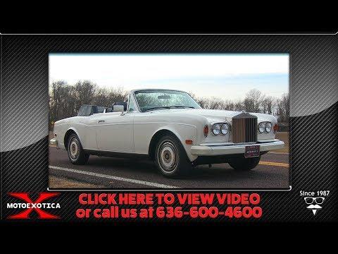 Video of '85 Corniche - P1TY