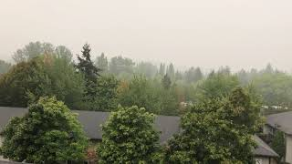 Hazy smoky sky in Bellevue today September2020
