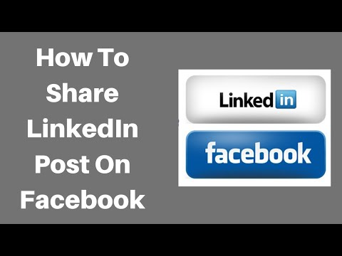 LinkedIn post on Facebook business page