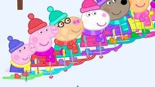 Peppa Pig English Episodes in 4K - Skiing with Peppa! - #101