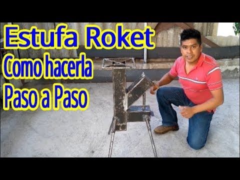 ESTUFA ( ROKET - Cohete )-Como hacerla - Paso a Paso