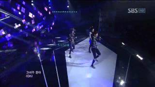 Chaos-She's coming(카오스-그녀가온다) @SBS Inkigayo 인기가요 20120115
