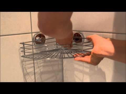 Wenko Vacuum-Loc -Eckregalinstallation