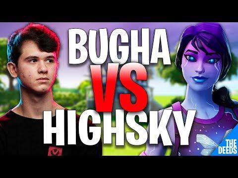 SEN Bugha 1 VS 1 SEN Highsky | Creative 1v1 *SEN BOX FIGHTS* (видео)