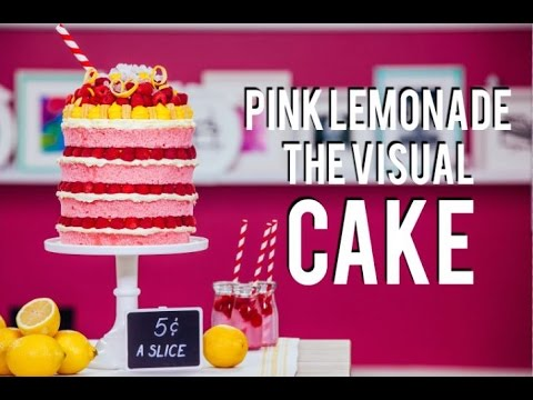 How To Make a PINK LEMONADE MEGA CAKE! BEYONCE inspired VISUAL CAKE filled with Lemon Curd!