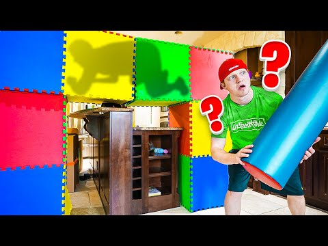 Which BOX Is HE IN? Giant PROP HUNT IRL!