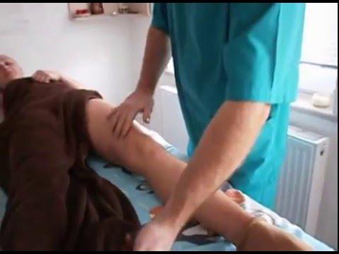 Массаж ног. Травма колена