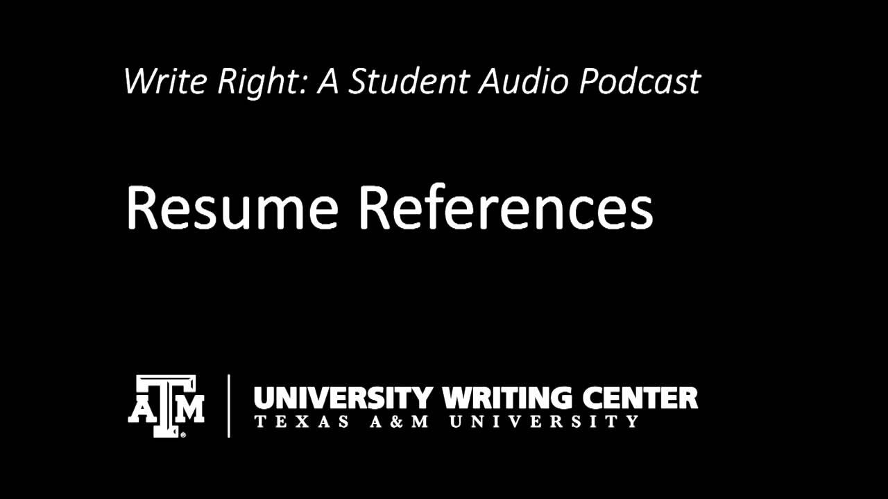university writing center uwc resumes  resume references