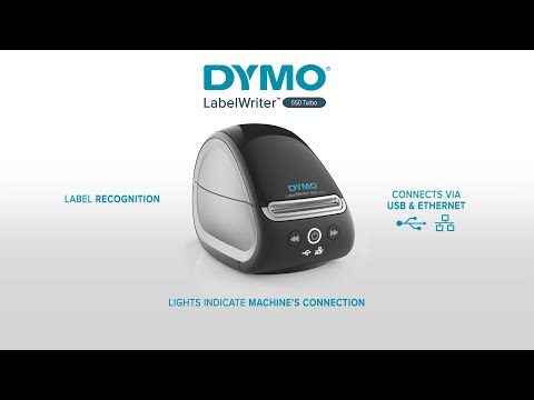 Imprimanta termica etichete DYMO LabelWriter 550 Turbo, senzor recunoastere eticheta, aparat de etichetat, viteza printare 71 etich/min, priza EU 2112723