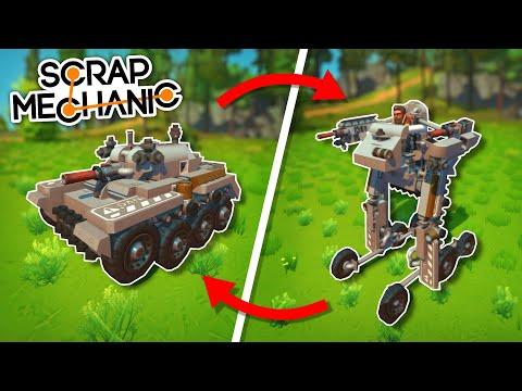 This Tank Can Transform into a Battle Mech! - Scrap Mechanic Best Builds