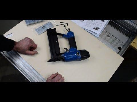 Druckluftnagler Drucklufttacker aus dem Discounter   Test - Unboxing