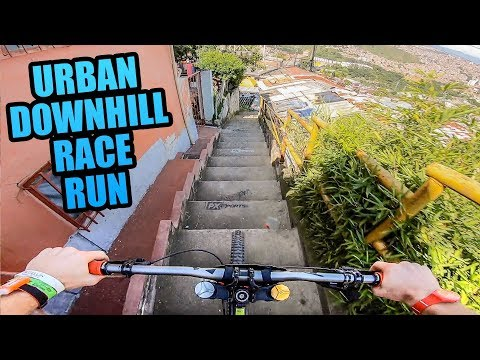 Just casually blazing downhill through Colombian houses