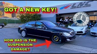 """CHEAPEST WRECKED MERCEDES S550 IN THE WORLD """"GOT THE KEY, UNLOADING BENZ''"""