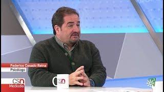 Federico Casado Reina como Psicólogo en Canal Sur Noticias - 26/12/2017