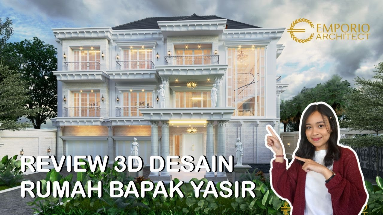 Video 3D Mr. Yasir Classic House 3 Floors Design - Makassar, Sulawesi Selatan