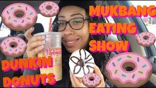 Mukbang Eating Show Halloween Dunkin Donuts & Maple Pecan Iced Coffee (146)