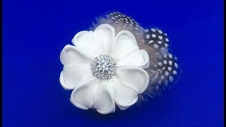 Decoration On The Brooch Kanzashi / Flower With Feathers