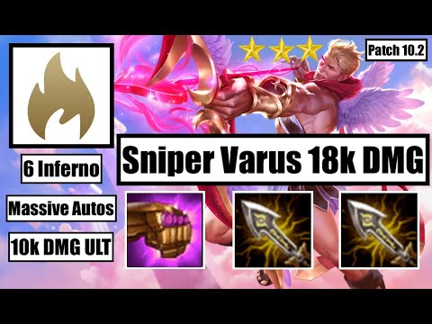 TFT Guide: 3 Star Double Infinity Edge JG Varus is soooo strong! - 6 Inferno
