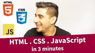 HTML . CSS . JavaScript