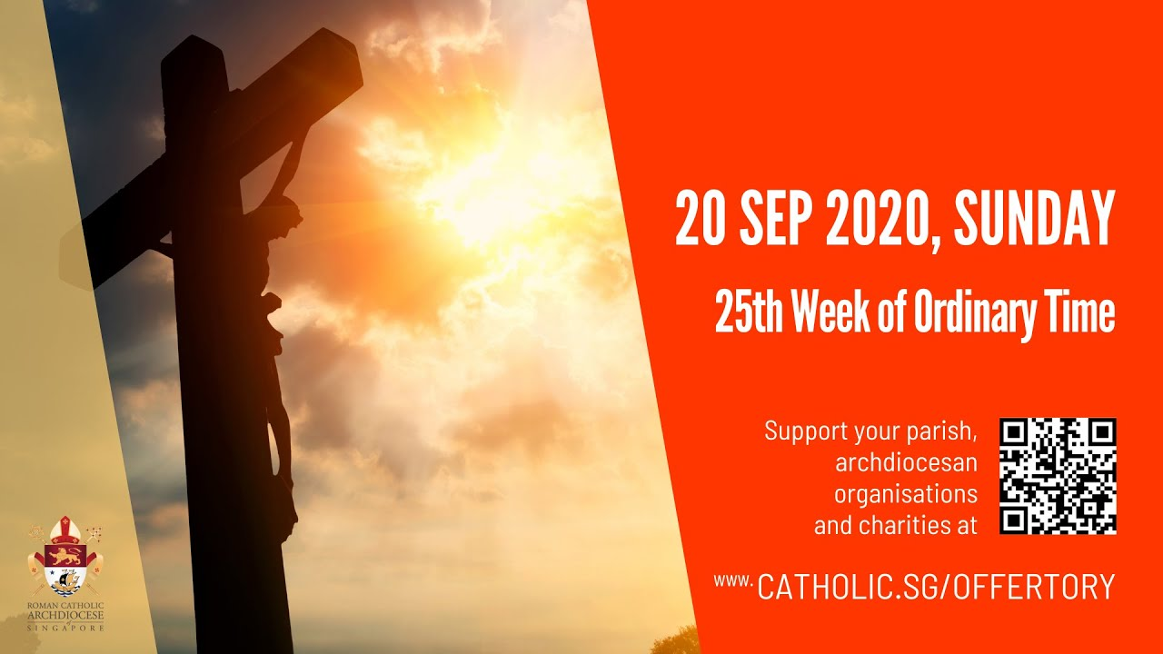 Catholic Sunday Mass 20th September 2020 Today Online, 25th Week of Ordinary Time - Livestream