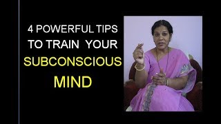 HOW TO TRAIN SUBCONSCIOUS MIND - IN ENGLISH